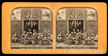 Load image into Gallery viewer, Amazing & Rare 1860s Tissue Stereoview Photo - Satan's Game Room!