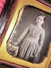 Load image into Gallery viewer, Daguerreotype Of Little Girl Holding Book - Tinted Flowers & Tablecloth _ Sealed