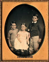 Load image into Gallery viewer, Half Plate Daguerreotype Tinted Siblings by Mathew Brady
