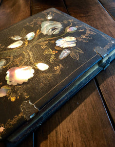 "Amazing Large (7.5"") Daguerreotype in Beautiful & Very Rare Mother of Pearl Case and Mat"