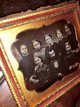 Load image into Gallery viewer, Antique 1850s Daguerreotype Group Photo Man & SEVEN Women - Mormon Family ?