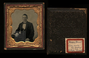 1850s 1860s Ambrotype Photo of Murderer who Disappeared - Crime Murder Int