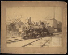 Load image into Gallery viewer, Large 10 x 8 Circa 1890 Antique Photo Funeral Train / Locomotive ~ Massachusetts