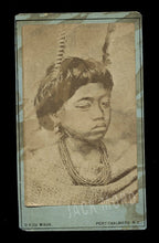 Load image into Gallery viewer, RARE Antique 1800s Photo Maori Child New Zealand Photographer De Maus