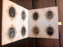 Load image into Gallery viewer, Miniature Antique 19th Century Tintype Album & 96 Original Photos / 1860s 1870s