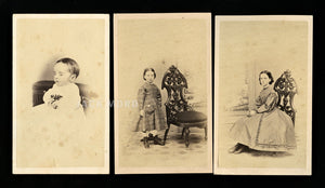 1860s CDV Photos ID'd Derby Sisters incl Post Mortem Girl / E Saginaw Michigan