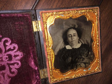 Load image into Gallery viewer, Post Mortem Ambrotype of a Woman / Union Case / 1850s