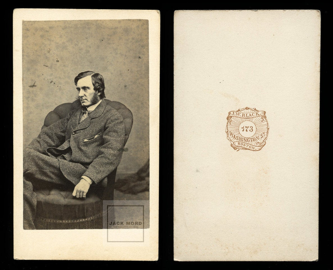 1860s CDV Photo George William Curtis Author Abolitionist & Civil Rights Leader