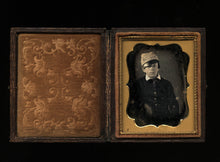Load image into Gallery viewer, Too Cool Boy - Casual Pose in Kepi Cadet Hat - 1/9 1850s Sealed Daguerreotype