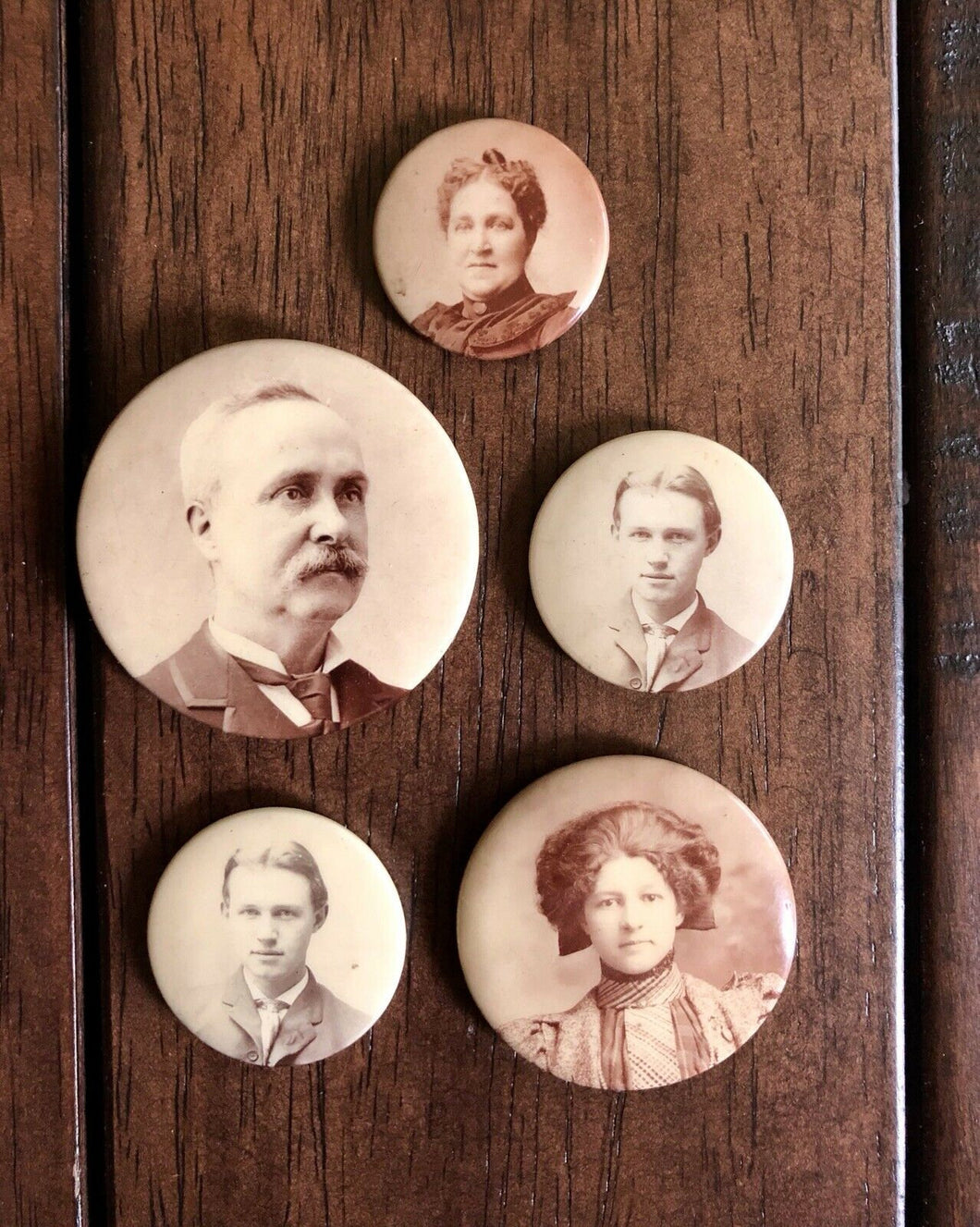Lot Of Antique 1800s 1900s Photo Portrait Pin Jewelry - Mourning Memorial Int?