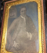 Load image into Gallery viewer, 1/4 1850s Daguerreotype 1700s Sea Captain fr Revolutionary War Period Painting