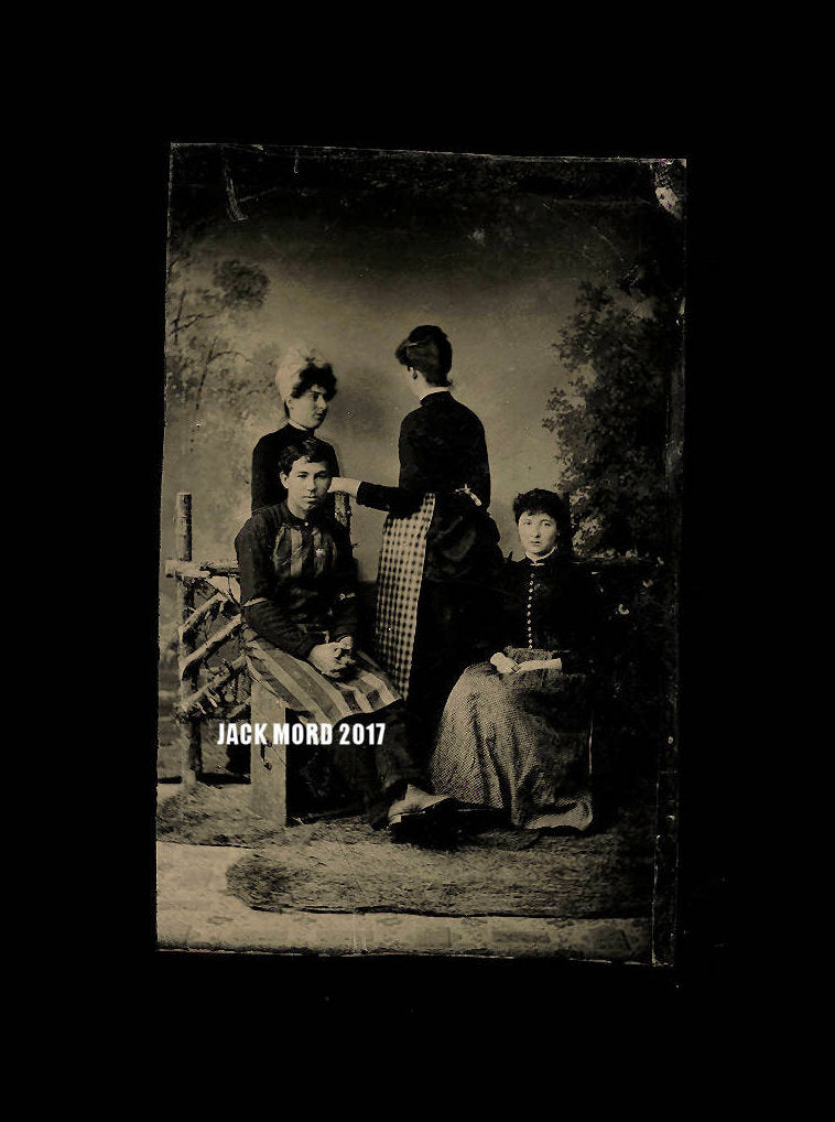 Excellent & Unusual Antique Tintype of House Servants - 1 Back to Photographer