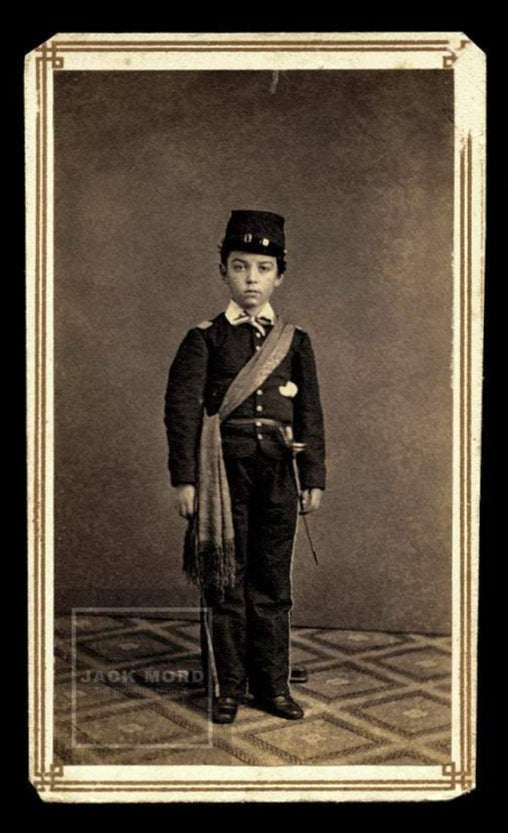 1860s CDV Photo Little Civil War Soldier Like Johnny Clem or Tad Lincoln