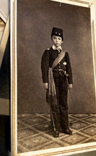 Load image into Gallery viewer, 1860s CDV Photo Little Civil War Soldier Like Johnny Clem or Tad Lincoln