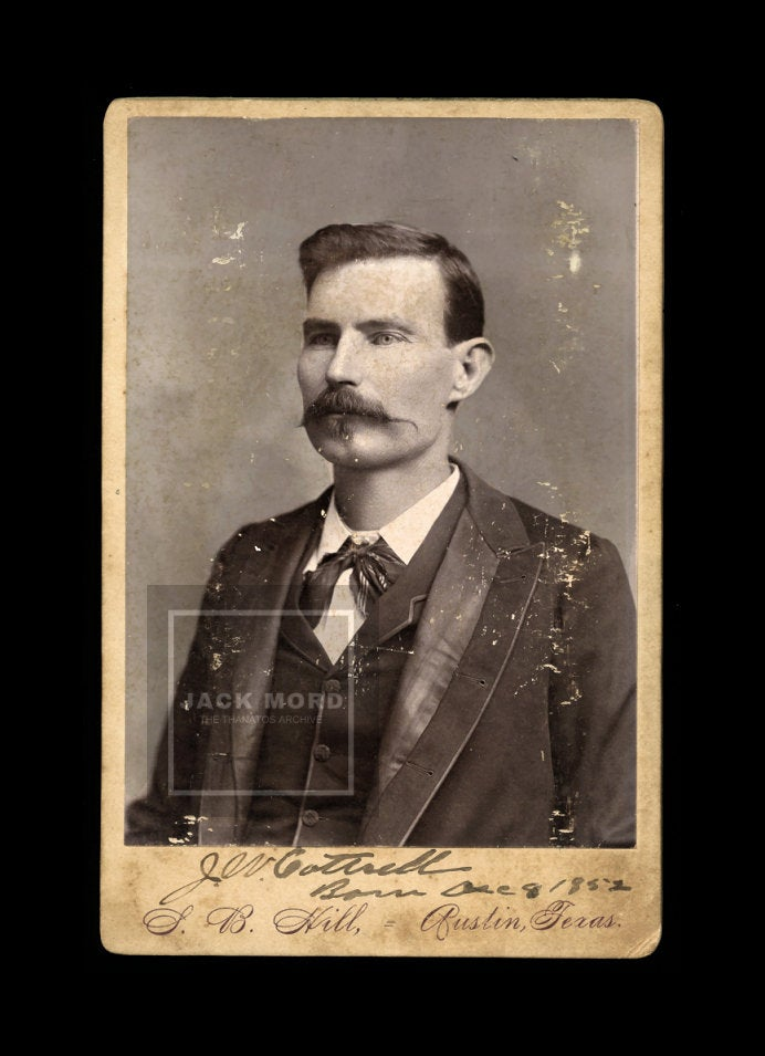 Rare Photo of JOHN W COTTRELL Texas Ranger Cowboy Confederate Soldier