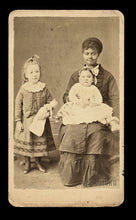 Load image into Gallery viewer, Antique CDV Photo - African American Nanny & White Children One Holding Doll