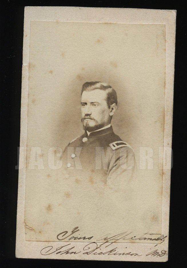 ID'd Civil War Soldier John Dickinson Surgeon 36th Ohio Infantry OVI - Signed