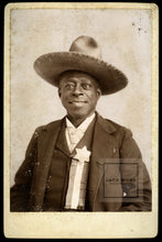 "Load image into Gallery viewer, VERY RARE African American Cowboy - Signed"" Reuben the Guide"" - San Diego California Tijuana Mexico"