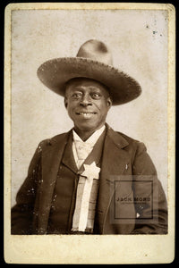 "VERY RARE African American Cowboy - Signed"" Reuben the Guide"" - San Diego California Tijuana Mexico"