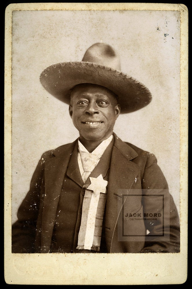 VERY RARE African American Cowboy - Signed