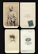 Load image into Gallery viewer, Rare CDV Photos Civil War Soldier Colonel Charles Mallet Prevost WIA & Daughter