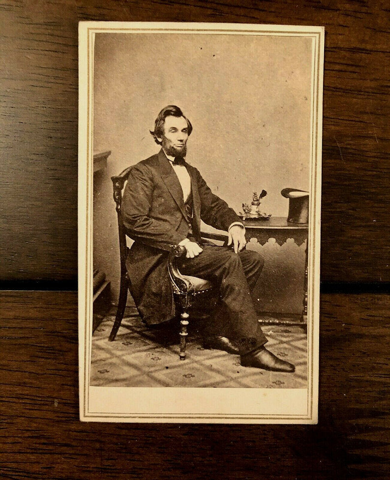 Abraham LINCOLN CDV With Civil War Tax Stamp & San Francisco Imprint!