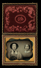 Load image into Gallery viewer, 1/6 Daguerreotype Sad Sisters or Friends Bonnet & Wrap Brooch - Sealed and Cased