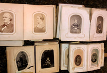 Load image into Gallery viewer, FOUR civil war & later albums 104 total antique photos tintypes cdvs (SA5)