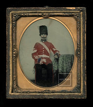 Load image into Gallery viewer, 1/6 PAINTED Relievo Ambrotype 1860s Soldier in Uniform - Royal Grenadier Guard?