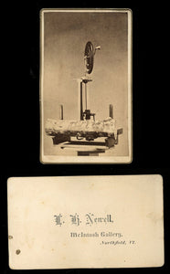 Unusual CDV Woodworking Lathe Machine with Log