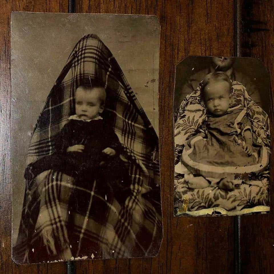 Two Hidden Mother Tintypes