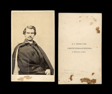 Load image into Gallery viewer, Rare CDV Photo Civil War Soldier Captain Daniel Clark 5th Maine - KIA In Virginia