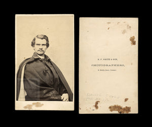 Rare CDV Photo Civil War Soldier Captain Daniel Clark 5th Maine - KIA In Virginia