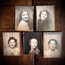 Load image into Gallery viewer, FOURTEEN (14) Vintage 1930 1940s Photobooth Photos of Women
