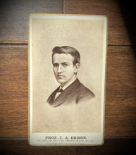 Load image into Gallery viewer, Rare Original CDV Photo of the Inventor THOMAS EDISON