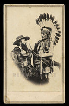 Load image into Gallery viewer, RARE Western History Photo Edwin Perrin & Pueblo Indian w Guns New Mexico 1860s