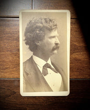 Load image into Gallery viewer, Rare Original CDV Photo of Mark Twain / Samuel Clemens - Tom Sawyer / Huckleberry Finn Author