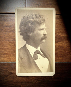 Rare Original CDV Photo of Mark Twain / Samuel Clemens - Tom Sawyer / Huckleberry Finn Author