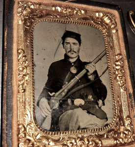 Rare Lot Armed ID'd Civil War Soldier Alexander Rayn Indiana Infantry - 1860s