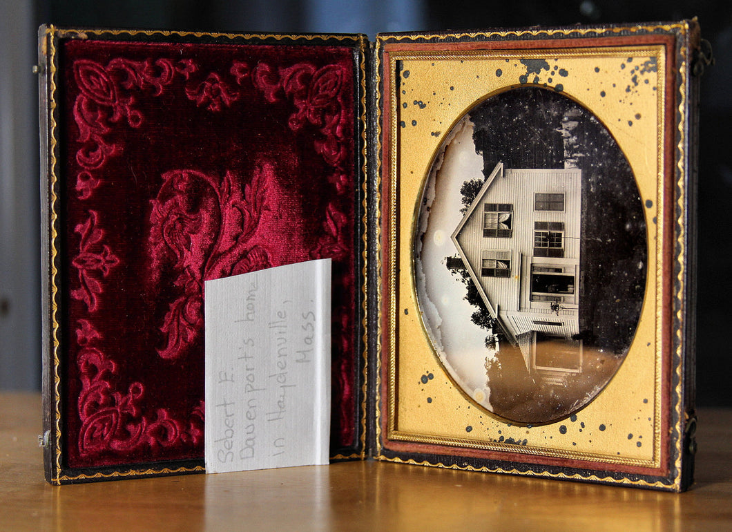 Rare and Beautiful 1850s Daguerreotype Haydenville Massachusetts House - Still Stands!
