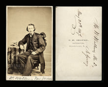 Load image into Gallery viewer, Civil War Era CDV Photo ~ Identified Doctor with Human Skull + Obituary / Info