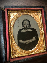 Load image into Gallery viewer, 1/9 Tintype - Sad Girl, Maybe Mourning