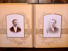 Load image into Gallery viewer, Celluloid Photo Album Cabinet Cards Tintypes Chicago Denver Bicycle Riders, More
