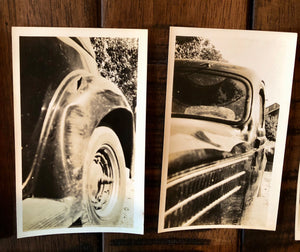 Lot of Vintage Car Accident Photos - Two dead men 1939 Sad & Macabre!