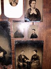 Load image into Gallery viewer, Great Lot of Tintypes 1860s Brooklyn People