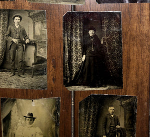 Late-1800s, Lot of Tintypes