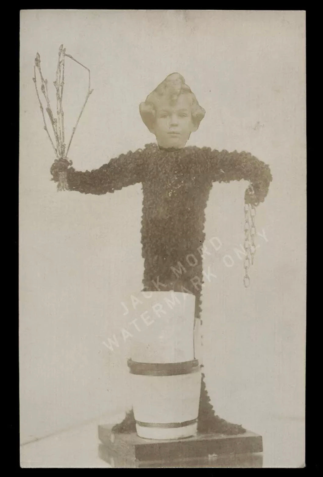 Weird / Unusual Composite Monkey Boy Photo Antique Oddities / Sideshow Gag?