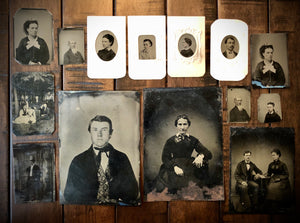 Great Lot of Tintypes 1860s Brooklyn People