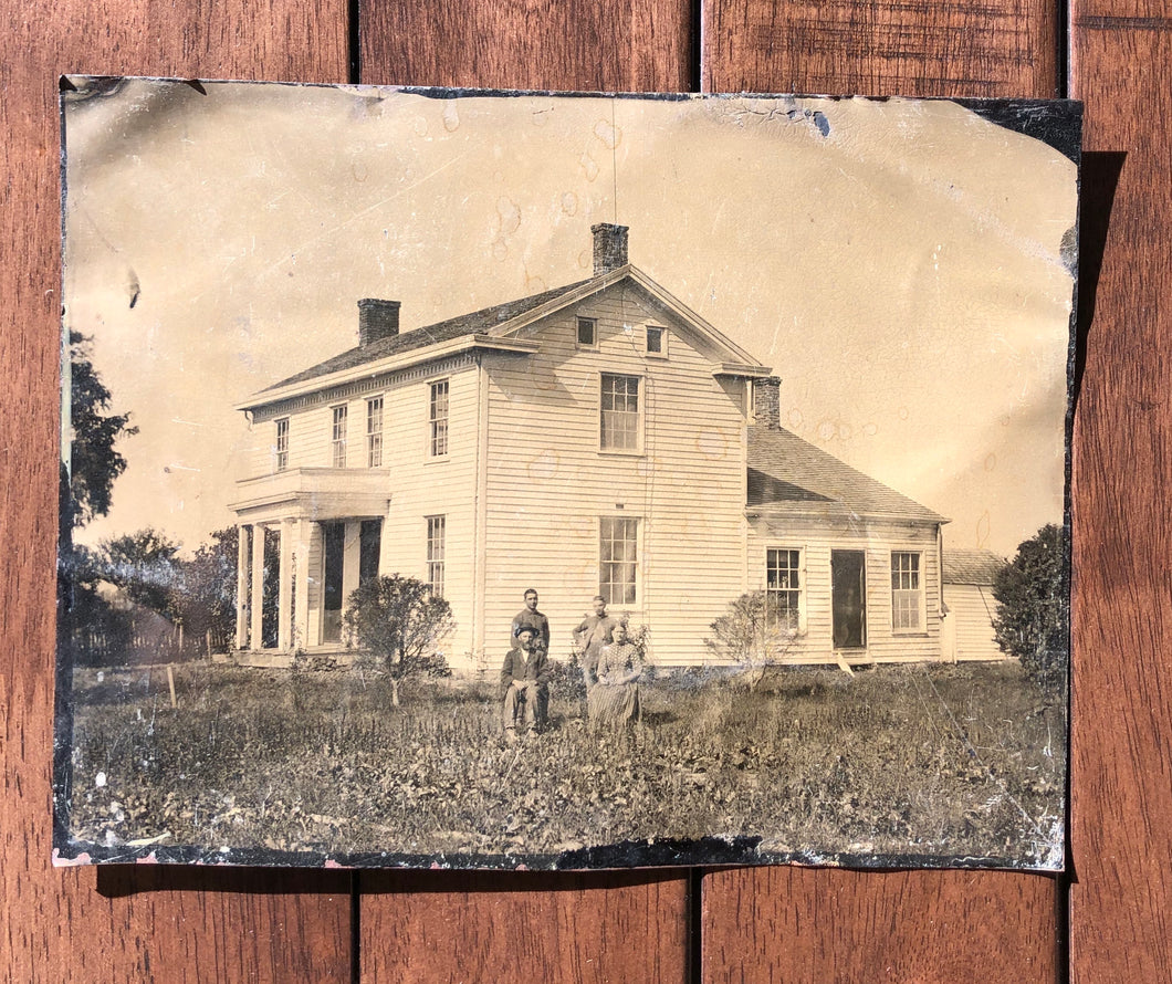 Large Full Plate House Tintype