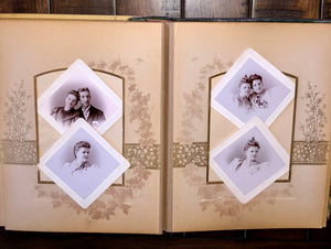 Celluloid Photo Album Cabinet Cards Tintypes Chicago Denver Bicycle Riders, More